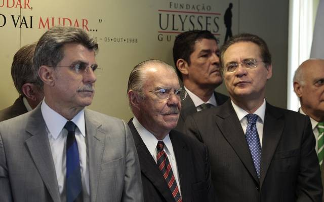 Resultado de imagem para Renan, Jucá, Sarney e Sérgio Machado