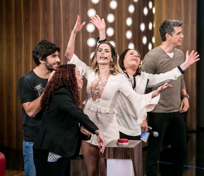 Família de Deborah Secco canta muito no 'Tamanho Família' (Foto: Isabella Pinheiro / Gshow)