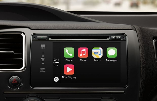 Tecnolgia CarPlay em carro da Honda (Foto: Divulgação)
