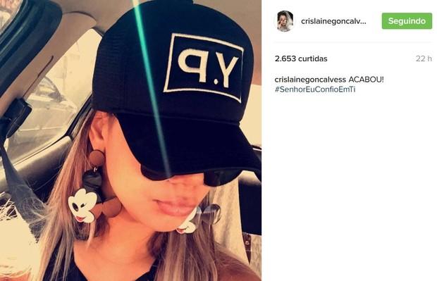 Crislaine Gonçalves anuncia fim do noivado com Nego do Borel (Foto: Reprodução/Instagram)