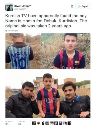 Emissora britânica teria descoberto o paradeiro do menino (Foto: Reprodução/ Twitter)