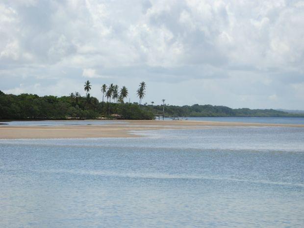 A tranquilidade das águas da Ilha de Boibepa (Foto: Gabriel Carvalho/Bahiatursa)