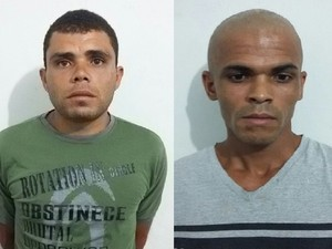 Lazaro Alves da Silva e Marcio da Silva Alves (esq) (Foto: Ascom / PC Alagoas)
