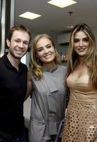 Angélica, Rafa Brites e Tiago Leifert participam de evento de beleza no Rio