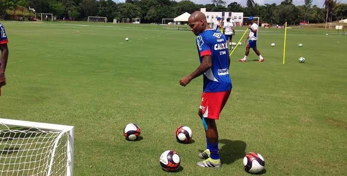 Wellington Silva, treino do Bahia (Foto: Felipe Oliveira / divulgação / EC Bahia)
