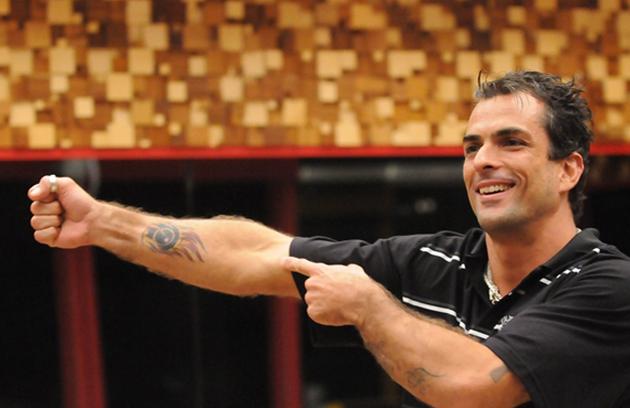 No 'BBB' 10, Marcelo Dourado, que esteve no 'BBB' 4, voltou ao programa e se envolveu em várias polêmicas. 'Hetero não pega Aids' foi uma das declarações do participante (Foto: TV Globo)