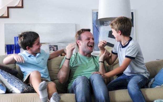 Rubens Barrichello para campanha de Protex for Men (Foto: Divulgação)