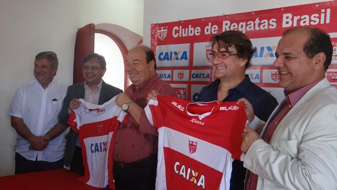 CRB patrocínio Caixa (Foto: Viviane Leão/GloboEsporte.com)