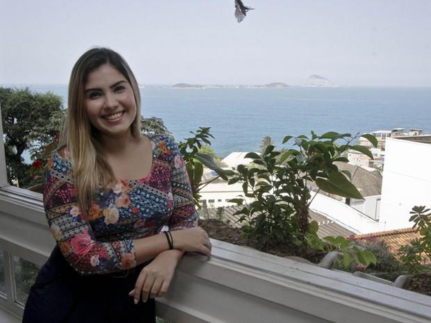 Andressa faz parte da Cia Teatral Mensageiros (Foto: Divulgao)
