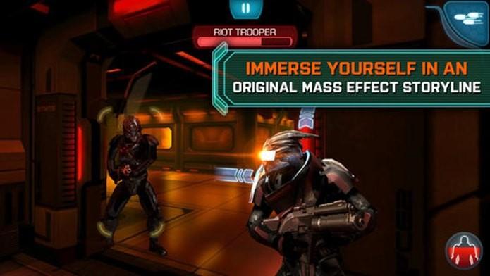 Mass Effect para iPhone e iPad está em promoção! Aproveite! (Foto: Divulgação)