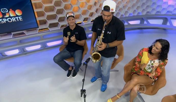 Bruno Schmidt, corujão do esporte (Foto: Reprodução TV Globo)