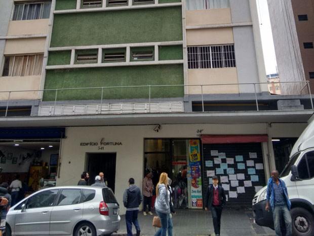 Prédio onde menino foi encontrado morto dentro de uma geladeira, no Centro de São Paulo (Foto: Paula Paiva Paulo/G1)