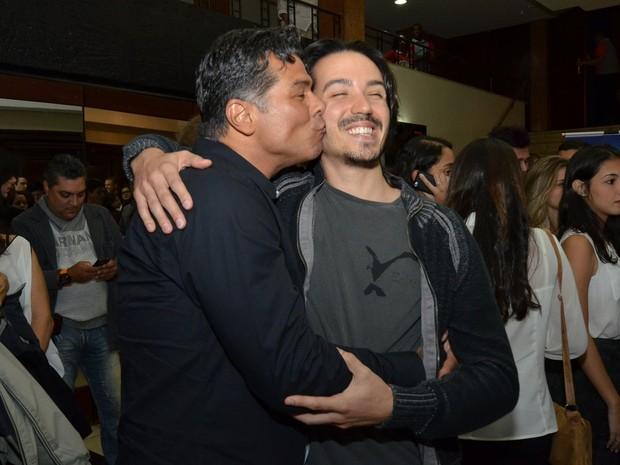 Maurício Mattar e o filho Luã Mattar em evento no Rio (Foto: Léo Marinho/ Ag. News)