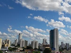 Previsão do tempo em Cuiabá. (Foto: Ana Cláudia Guimarães/G1)