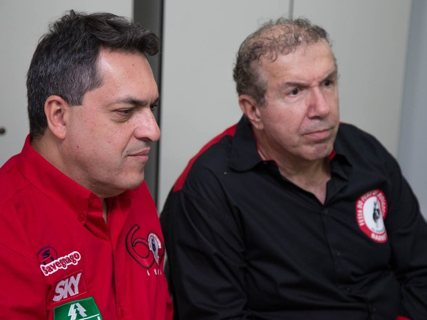 O diretor comercial da Cennarion, Luiz Henrique Silva, e o presidente do Grupo Cennatech, Nabil Mourad (Foto: Mateus Rigola/G1)