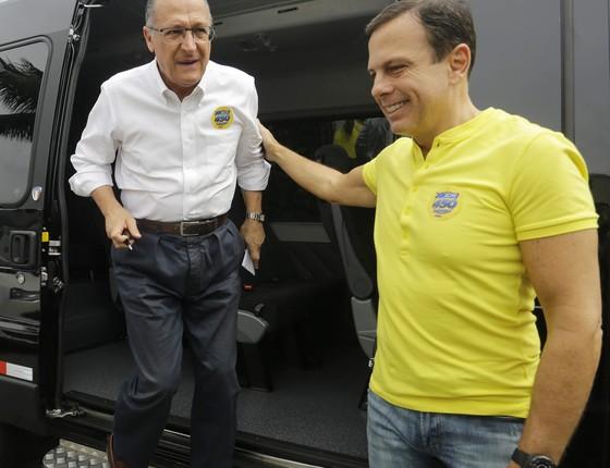 O pré-candidato do PSDB, João Dória, e o governador de São Paulo, Geraldo Alckmin (Foto:  (Foto: Agência O Globo))