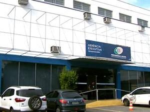 Gerência Executiva do INSS de Araraquara (Foto: Rodrigo Sargaço/EPTV)