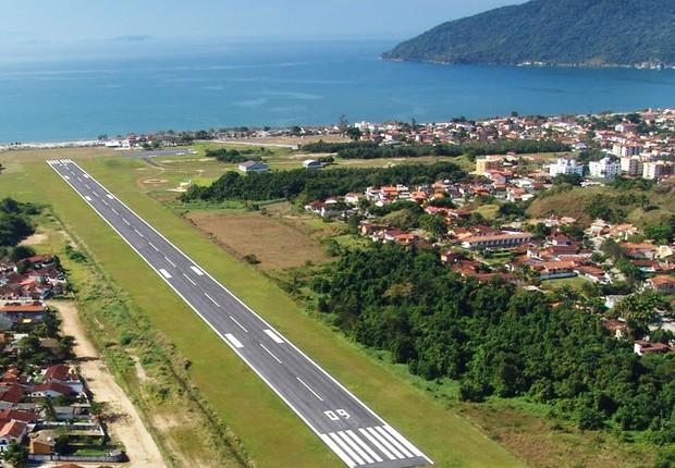 Aeroporto Estadual Gastão Madeira, em Ubatuba (Foto: Divulgação/Artesp)