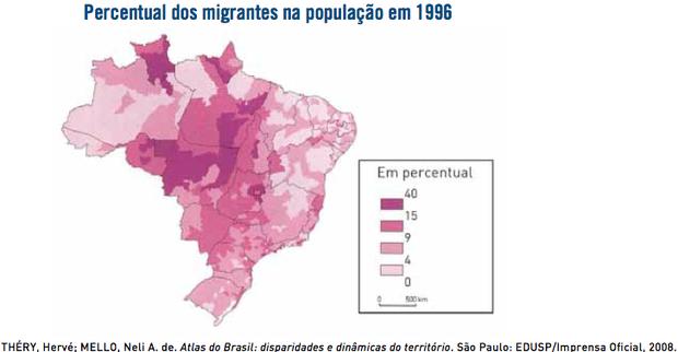 Gráfico sobre migração nos anos 90 (Foto: Reprodução/UERJ)