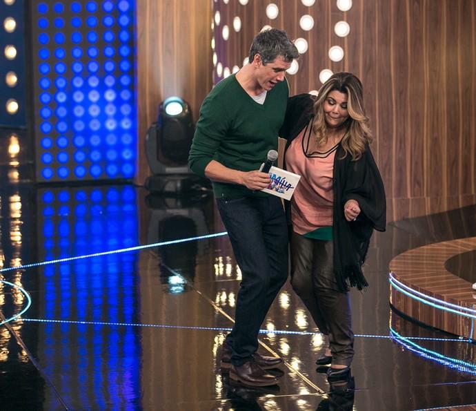 Marcio Garcia dança com Fabiana Karla (Foto: Isabella Pinheiro / Gshow)