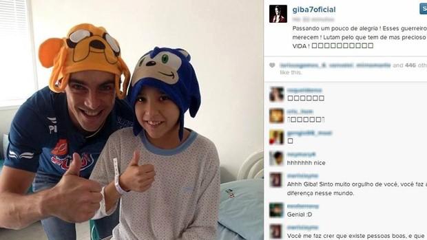 Giba visita GACC Pindamonhangaba (Foto: Reprodução/ Instagram)