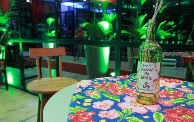 Decoração típica marca evento (Foto: Katiúscia Monteiro/ Rede Amazônica)
