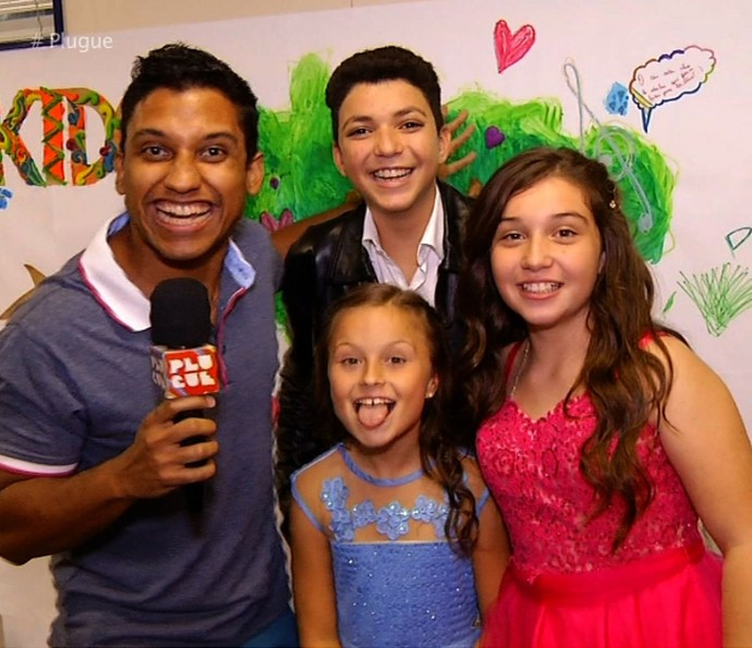 'Plugue' acompanhou a semifinal do 'The Voice Kids' (Foto: Plugue)