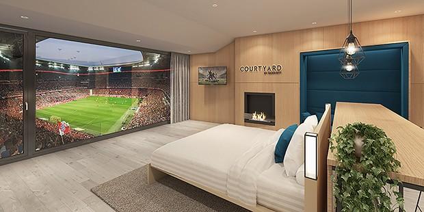 Suíte dentro do Allianz Arena (Foto: Divulgação)