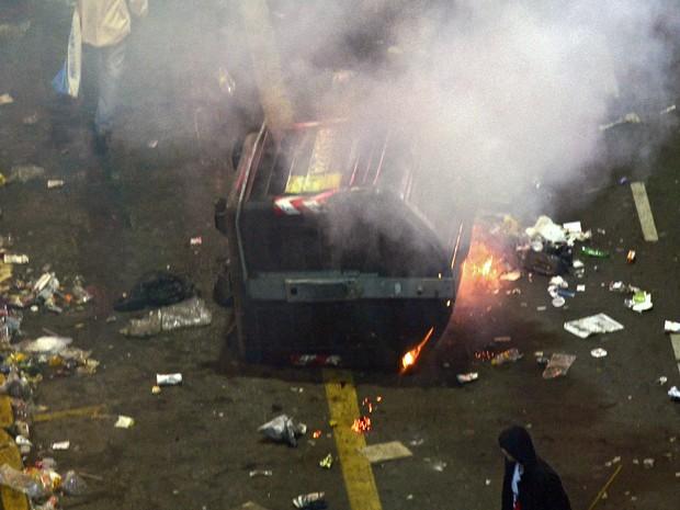 Buenos Aires registra tumultos após final da Copa. (Foto: Daniel Garcia/ AFP)