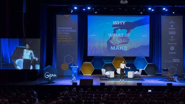 Palestra de Abigail Posner, do Google, encerrou dia de discussões sobre estratégia criativa (Foto: Glauco Arnt/Divulgação)