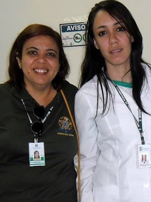 Professora Flávia Cristina e a orietanda Ilanny Ramos (Foto: Ilanny Ramos/ Arquivo Pessoal)
