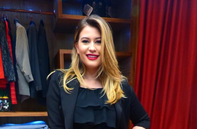 Nina Secrets revelou seus segredos de maquiagem no É de Casa (Foto: Letícia Souza / Gshow)