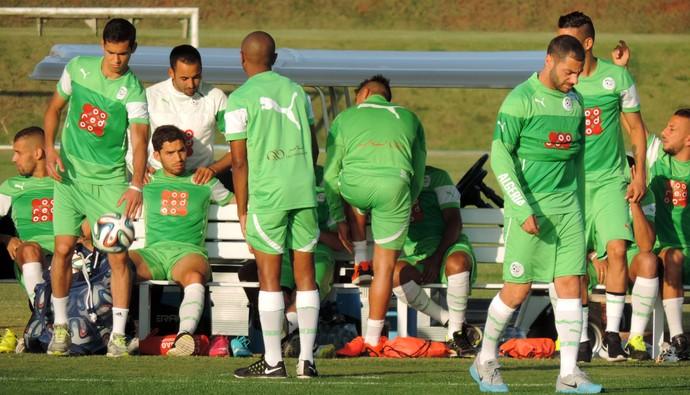 Treino Argélia Copa do Mundo (Foto: Natália de Oliveira)