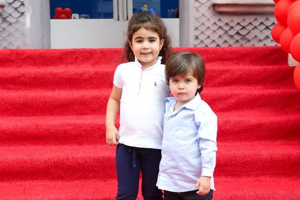 Aniversário dos trigêmeos de Isabella Fiorentino (Foto: Manuela Scarpa/Brazil News)