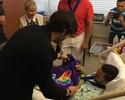 Kaká visita vítimas do atentando em Orlando ao lado de Shaquille O'Neal