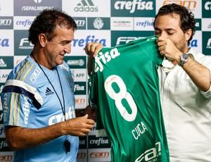 Cuca e Alexandre Mattos, coletiva Palmeiras (Foto: Agência Estado)