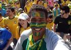 Sortudo assistiu à abertura e verá final da Copa (Matheus Gonçalves / Arquivo pessoal)