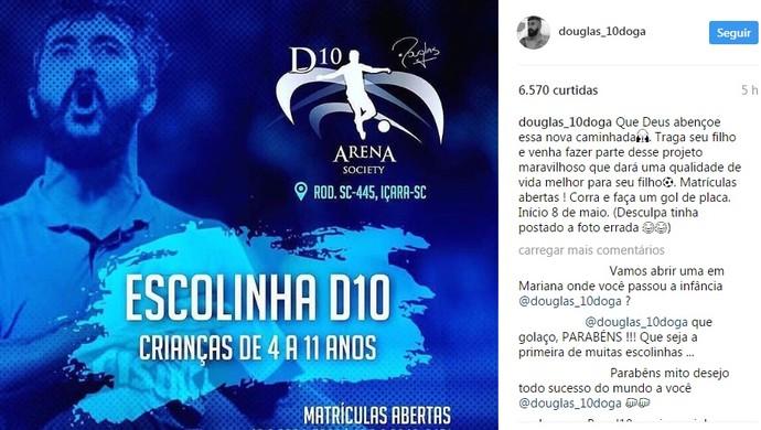Douglas Grêmio escolinha (Foto: Reprodução / Instagram)