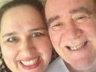Susana Vieira posta foto de Renato Aragão com a mulher : 'Amo muito'