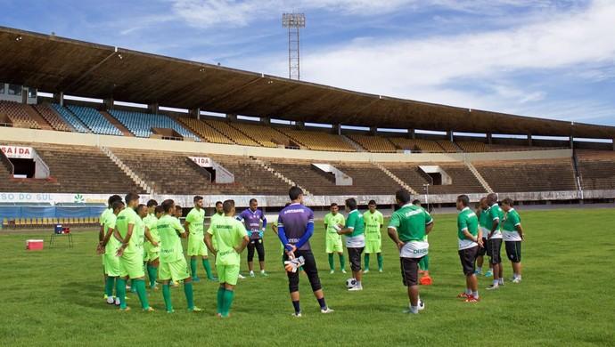 Cuiabá treinou nesta manhã no Estádio Morenão (Foto: Pedro Lima/Cuiabá Esporte Clube)