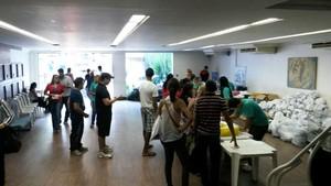 Entrega dos kits da Corridinha do Círio (Foto: GloboEsporte.com)