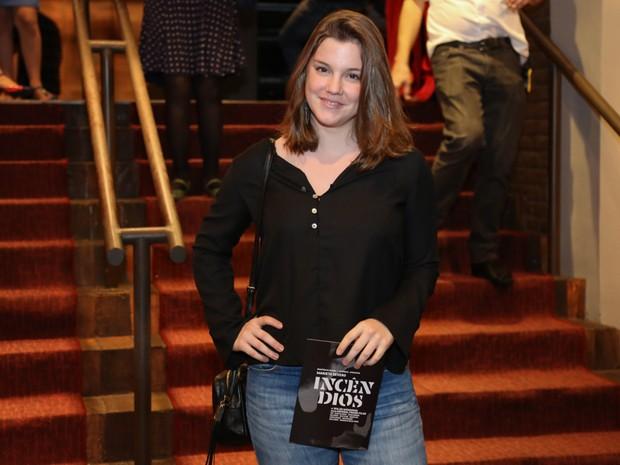 Alice Wegmann em peça na Zona Sul do Rio (Foto: Roberto Filho/ Brazil News)