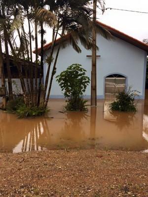 Alagamento em bairro de Sete Barras, SP (Foto: Sindicato Rural do Vale do Ribeira/Divulgação)