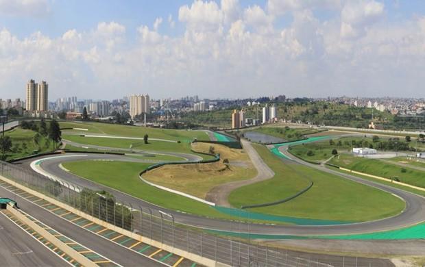Vista panorâmica do Autódromo José Carlos Pace, em São Paulo (Foto: José Cordeiro/ SPTuris)