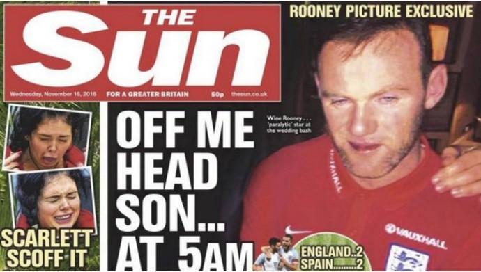 Rooney capa The Sun (Foto: Reprodução/The Sun)
