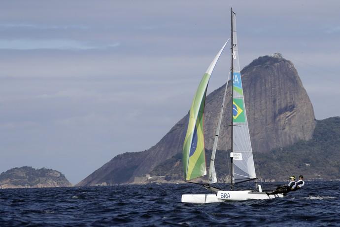 vela; regata; brasil; nacra 17;  Isabel Swan; Samuel Albrecht  (Foto: Gregorio Borgia/AP Photo)