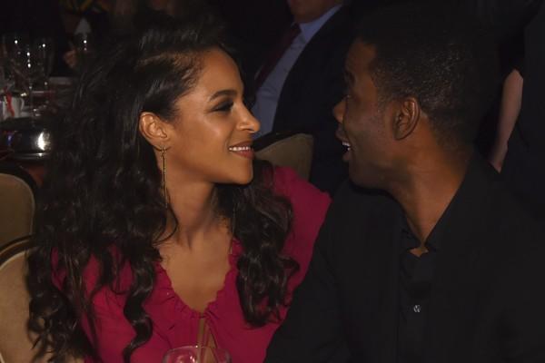 O ator Chris Rock com sua atual namorada (Foto: Getty Images)