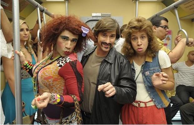 Valéria (Rodrigo Sant´anna ),  Tenente Vilson ( Filipe Pontes ) e Janete ( Thalita Carauta )  (Foto: TV GLOBO / Renato Rocha Miranda)