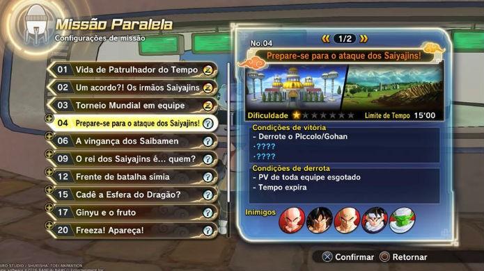 Dragon Ball Xenoverse 2: Jogue a quarta missão paralela (Foto: Reprodução / Thomas Schulze)