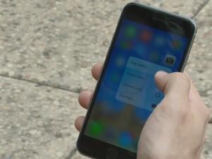 Tela do iPhone tem sensor de pressão, que identifica o quanto de força está sendo colocada na tela